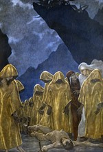 """""""La Divine Comédie"""", l'Enfer : le cortège des Hypocrites et la peine de Caïphas"""