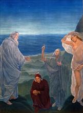 """""""La Divine Comédie"""", le Purgatoire : Dante et Caton sur la plage de l'Antipurgatoire"""