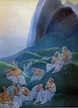 """""""La Divine Comédie"""", le Purgatoire : La vallée fleurie"""