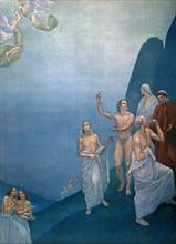 """""""La Divine Comédie"""", le Purgatoire : arrivée des anges pour défendre la vallée des princes négligents"""
