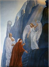 """""""La Divine Comédie"""", le Purgatoire : Dante et Virgile rencontrent l'Ange de l'humilité"""