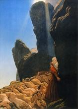 """""""La Divine Comédie"""", le Purgatoire : Dante et Virgile avec les avares et prodigues"""