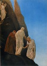 """""""La Divine Comédie"""", le Purgatoire : Dante et Virgile avec Stace"""