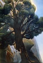 """""""La Divine Comédie"""", le Purgatoire : Dante et Virgile près de l'arbre de la tentation"""