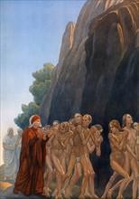 """""""La Divine Comédie"""", le Purgatoire : Dante avec Forese Donati"""