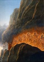"""""""La Divine Comédie"""", le Purgatoire : les luxurieux dans le mur de flammes"""
