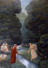 """""""La Divine Comédie"""", le Purgatoire : Dante dans la divine forêt du paradis terrestre"""