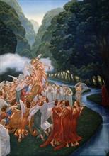 """""""La Divine Comédie"""", le Purgatoire : Apparition de Béatrice sur le char."""