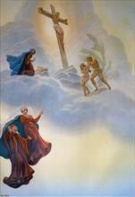 """""""La Divine Comédie"""", le Paradis : vision de la naissance du Christ, sa crucifixion, d'Adam et Eve chassés du paradis"""