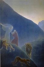 """""""La Divine Comédie"""", l'Enfer : Dante et Virgile attaqués par 3 fauves"""