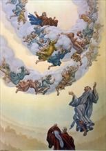 """""""La Divine Comédie"""", le Paradis : les bienheureux en forme de rose blanche"""