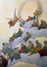 """""""La Divine Comédie"""", le Paradis : Distribution des bienheureux dans la rose"""
