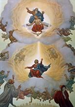 """""""La Divine Comédie"""", le Paradis : Saint Bernard et Dante devant la Vierge et la Sainte Trinité"""