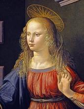 Da Vinci, The Annunciation (detail)