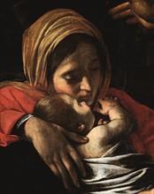 Caravage, L'Adoration des Bergers (détail)
