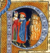 Lettrine illustrant le chant XXVI de l'Enfer de la Divine Comédie de Dante