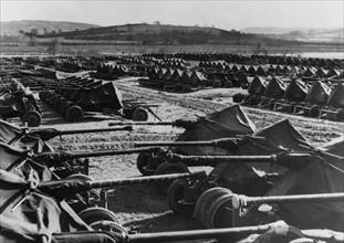Storage camp in Great Britain (1944)