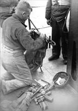 Un GI juste avant le débarquement (juin 1944)