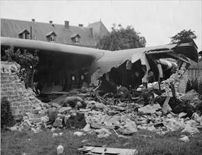 Avion accidenté à Sainte-Mère-Eglise