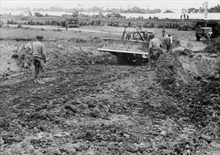 Route de ravitaillement construite par les Américains (1944)