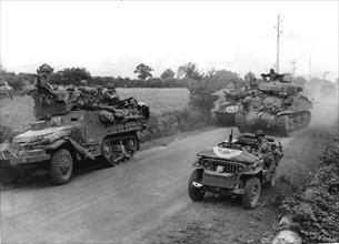 Une division blindée américaine sur la route de Concarneau