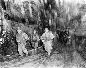 Soldats américains à Langefosse en novembre 1944