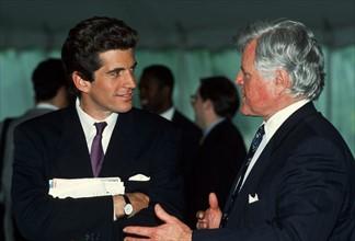 John F. Kennedy Junior et Edward Kennedy