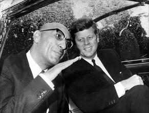 Le roi Mohammed Zaher Shah avec John F. Kennedy