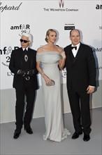 Karl Lagerfeld, Charlene Wittstock et le Prince Albert de Monaco