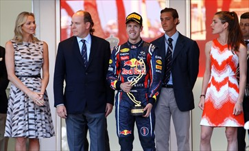 Formel 1 - GP Monaco - Vettel and Prince Albert