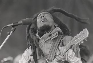 Bob Marley bei seinem Konzert in München