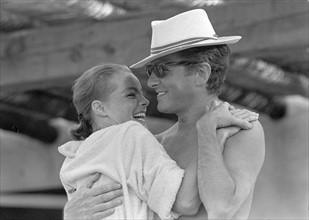Romy Schneider et son mari Harry Meyen
