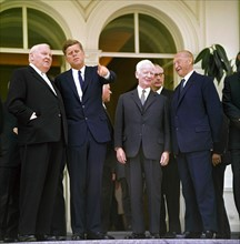 Konrad Adenauer, Heinrich Lübke et John F. Kennedy