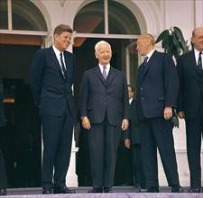 John F. Kennedy, Heinrich Lübke et Konrad Adenauer