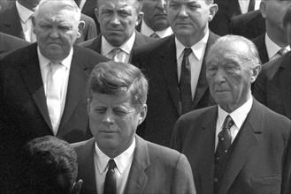 Le Président John F. Kennedy lors d'une visite à Cologne en 1963