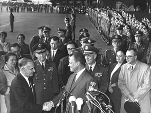 Presidential adviser Lucius D. Clay leaves Berlin