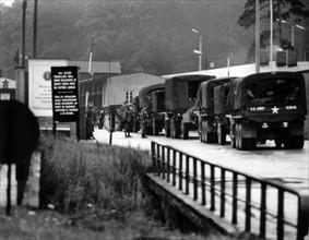 US troop transport to Berlin leads through Soviet zone