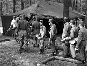 US troop transport taking a break before trip to Berlin through Soviet zone
