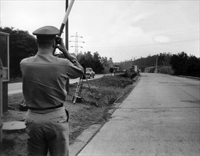 US soldiers at the inter-German checkpoint Helmstedt