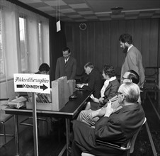 Accreditation office for Kennedy's visit in Bonn