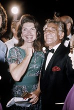 Jacqueline Kennedy-Onassis avec Leonard Bernstein