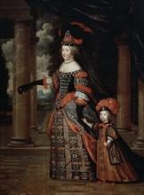 Mignard, Portrait de Marie Thérèse d'Autriche et du Grand Dauphin