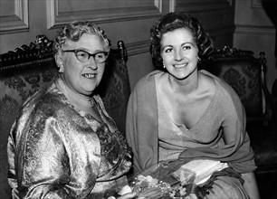 Agatha CHRISTIE und Margaret LOCKWOOD