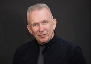 Fashion designer Gaultier presents donation to Aids charity