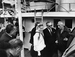 Rainier de Monaco et Jacques-Yves Cousteau