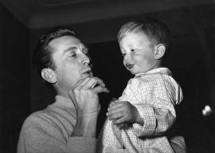 Kirk Douglas et son fils Eric