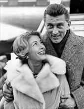 Kirk Douglas et sa femme Anne Buydens