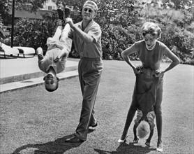 Kirk Douglas en famille, 1960