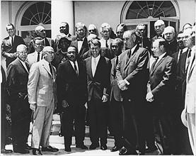 Réunion pour les droits civiques à la Maison Blanche, 1963