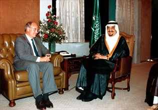 Richard Cheney et Fahd Ibn Adb Al Asis, 1990